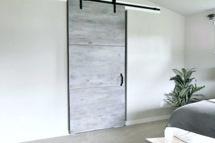 Gray Interior Sliding Door